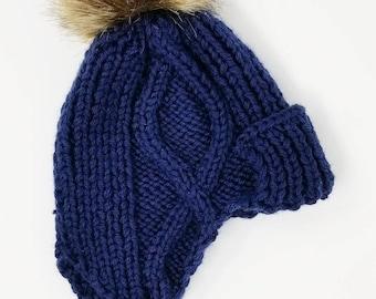 Boys navy blue hat