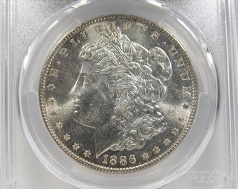 1886 Morgan Dollar PCGS MS66+ Certified Coin