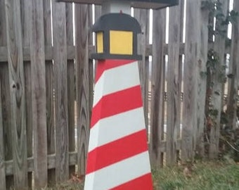 Lighthouse (Red Spiral) Fun Mailpost