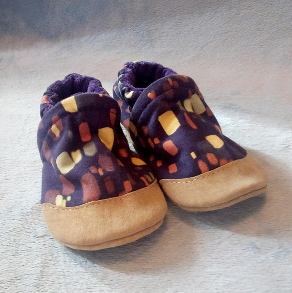 Purple Lantern: Soft Sole Baby Shoes 12-18M