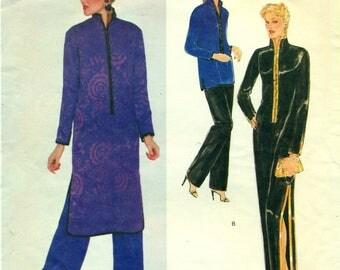 Vogue 2337 YVES SAINT LAURENT Paris Original 1970s Tunic Pants Dress Size 14 Bust 36