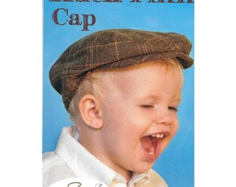 Boys' Newsboy Hat Gatsby Driving Cap Sewing Pattern 6 months to 10 years