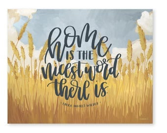 Prairie Home Landscape Quote - 11x14 // 1canoe2 // Hand illustrated
