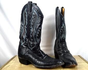 Vintage Tony Lama Western Cowboy Boots - Size 10