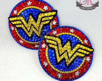 Wonder Woman Inspired Rhinestone Nipple Pasties - SugarKitty Couture
