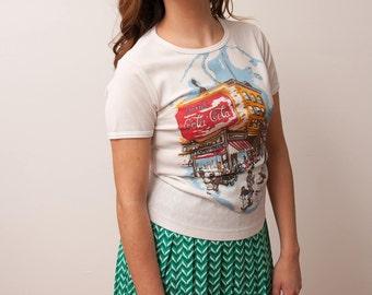 Vintage Coca Cola T-Shirt - White Vintage Tshirt - Vintage Graphic Tee - Vtg Coke T-Shirt - VTG Coca Cola Memorabilia - Size Medium for Her