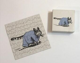 Vintage Kilban Cat 1980 Jigsaw Puzzle - Fatcat - complete 100 pieces