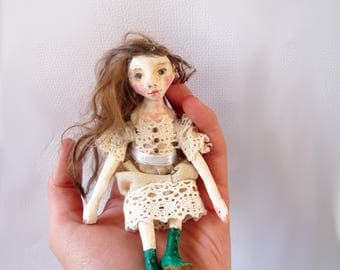 Custom and Personalized Miniature Doll, 1 Inch Scale Art Doll
