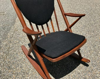 Mid Century Danish Modern Teak Rocking Chair