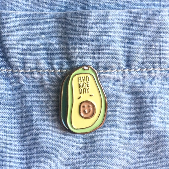 NEW! Avo Nice Day Avocado Brunch Enamel / Lapel Pin