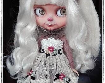 ELORA Vintage Rabbit girl Blythe custom doll by Antique Shop Dolls