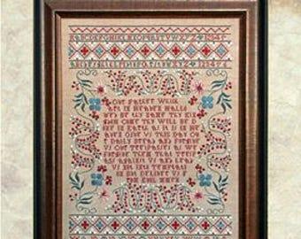 NEW! 2018 Nashville Market HANDS ACROSS the SeA Sarah Mary Larkworthy 1737 cross stitch patterns at thecottageneedle.com