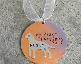 Dog First Christmas tree Ornament - Dog Christmas - Personalized Ornament - Name Gift - Pet ornament