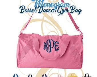 Monogram Dance Duffel Bag, Monogram Duffel Bag, Monogram Gym Bag, Monogrammed Duffel Bags, Barrel Gym Bag, Monogram Dance Bag