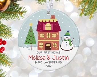 Our First Home Custom Christmas Ornament Housewarming Gift New Home Gift First House Ornament