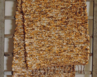 "Hand Woven Autumn Terry Table Runner - 14"" x 48"""