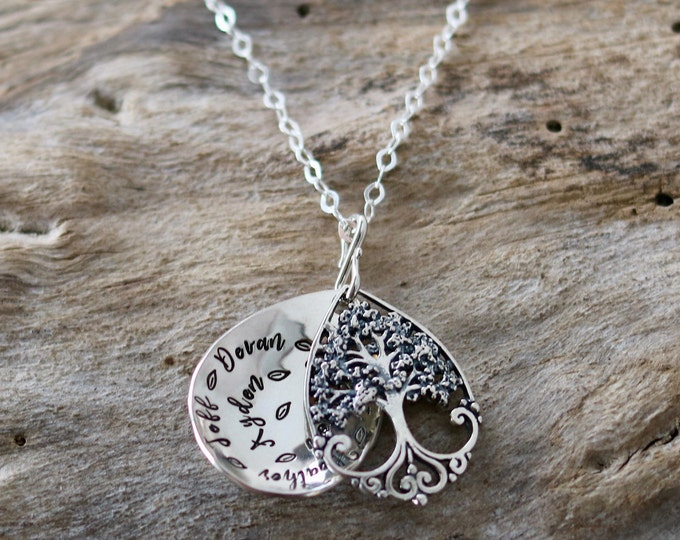 Tree of life pendant |Tree of life necklace |Tree of life jewelry | Tree Pendant Necklace |Sterling|  Mom Gift |Christmas Gift |Mom Necklace