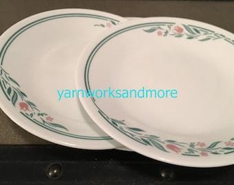 3 Corelle Rosemarie Bread Plates, Corelle Rosemarie Dessert Plates