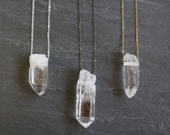 SALE / Raw Quartz Necklace / Crystal Necklace / Quartz Necklace / Crystal Jewelry / Raw Quartz Jewelry / Raw  Quartz Pendant