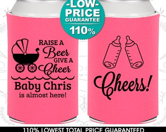 Raise a beer give a cheeer, Beer Baby Shower Ideas, It's a Boy Baby Shower, Little Man Baby Shower, Expecting Announcement (90081)
