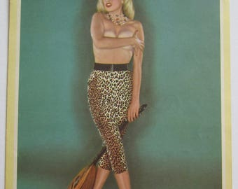 1957 Glamour Girl Sexy Pinup Proverb Calendar - Jayne Mansfield - Free Shipping
