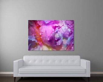 Abstract Art, Modern Art, Canvas Wall Art, Floral Canvas Art, Contemporary Art, Fine Art Photography, Peony Flower Petals Boho Chic Wall Art