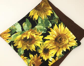 Sunflower Potholders, Set Of 2 Sunflower Kitchen Pot Holders, Autumn Kitchen  Decor, Hot