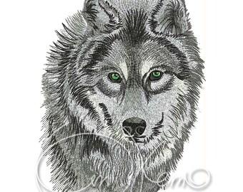 MACHINE EMBROIDERY DESIGN - Wolf