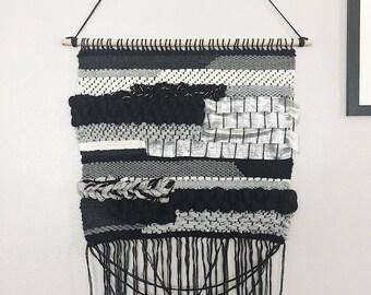 Silver Fox Weaving Woven Wall Hanging
