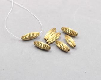 30Pcs, 21mm Raw Brass Barrel Beads , Hole Size 1.5mm , SJP-A416