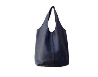 Black leather hobo bag,Black leather tote,Black shoulder bag,Black leather bag