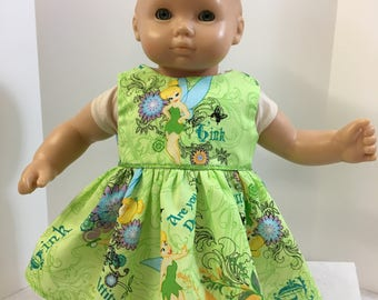 """15 inch Bitty Baby Clothes, Disney's """"TINKER BELL"""" Dress, 15 inch AG American Doll Bitty Baby Clothes & Twin Doll, 15 inch Baby Doll Clothes"""