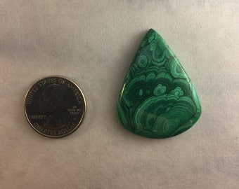 Large AAA Quality Malachite approx. 41mm x 32mm