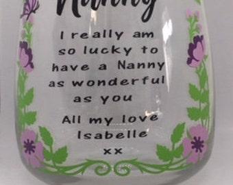 Nanny I really am so lucky vase