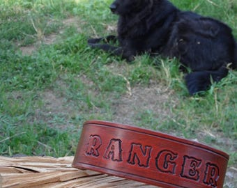 Personalized Handcrafted Leather Dog Collar