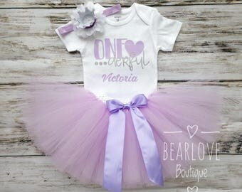 Lavender Miss Onederful Birthday Outfit | One-derful Birthday | First Birthday Outfit | Purple Birthday | Cake Smash Outfit | Photo Prop