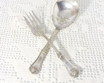 "Oxford 1910 "" Garland "" Serving Spoon and Fork"