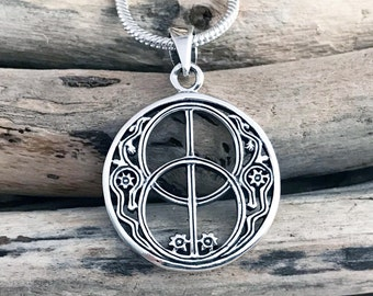 Vesica Piscis Necklace, Chalice Well , Bladder of a fish, Mandorla, Euclid's Elements, Chalice Well,  Freemasonry, icthys VAR090