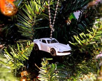 Hot Wheels FuguZ Custom Datsun 240Z White car Ceiling Light Fan Pull, Ornament, and Pendant