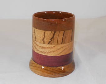 Wood Pencil Holder, Wooden Pen Cup, Office Desk Organizer (#148)