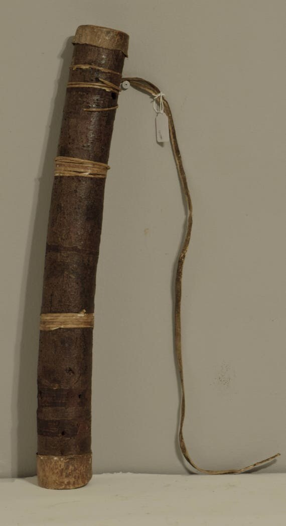 Quiver African Bushman Arrow Case South African Handmade Wood Bark Twine Holds Arrows Quiver