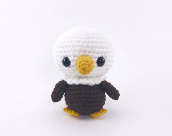 PATTERN: Crochet eagle pattern - amigurumi eagle pattern - crocheted baby eagle pattern - eagle amigurumi - PDF crochet pattern