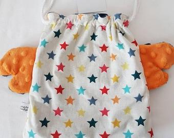 Put blanket, blanket purse * bag backpack range blanket * double stars microfleece