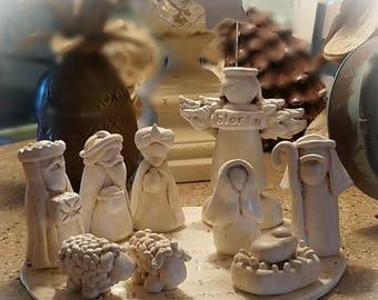 Nativity, Nativity Set, Clay Nativity Set, Christmas Decor