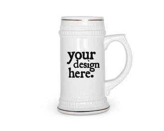 CUSTOM BEER MUG 22oz Beer stein, custom beer stein, design your own beer stein,personalized beer mug retirement promotion boss wedding gift