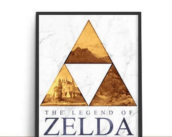 Legend of Zelda Triforce Poster