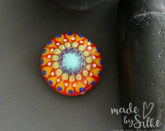 one handmade lampwork focal bead  |  MANDALA  |  artisan glass |  SRA | OOAK  |     made by Silke Buechler