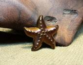 Purple Tinted Brown Titanium Plated Hematite Starfish approximately 42*7mm