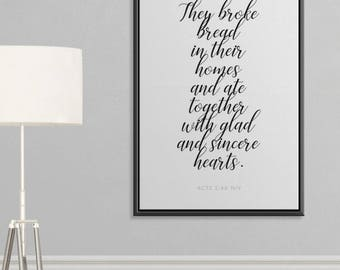 Inspirational Wall Art Prayer Scripture Framed Canvas Christian
