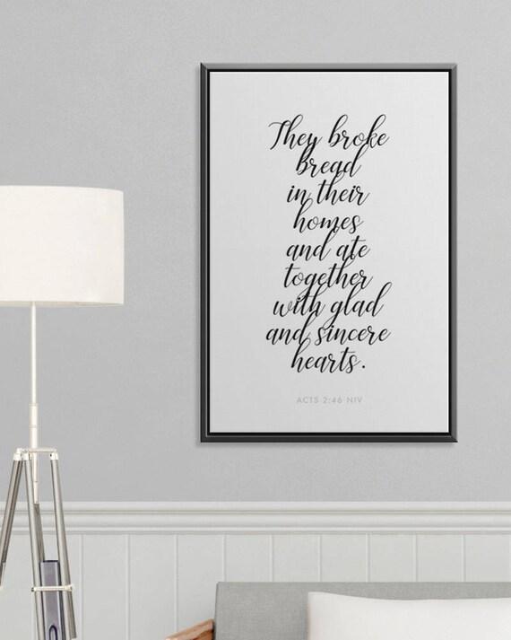 Inspirational Wall Art Prayer Scripture Framed